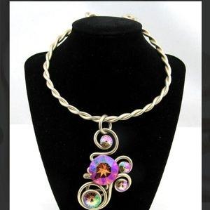 Jeff Lieb Aurora Borealis Collar Pendant Necklace